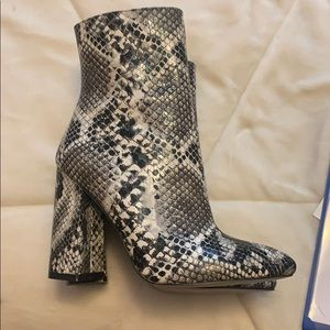 Pretty Little Thing Snakeskin Ankle Boot